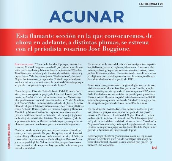 Revista Galera - pags 28 y 29 - Rosario - febr 2015